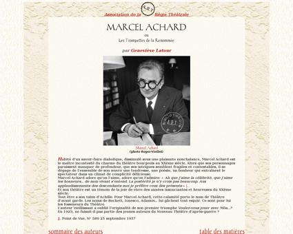 Marcel Achard accueil Marcel