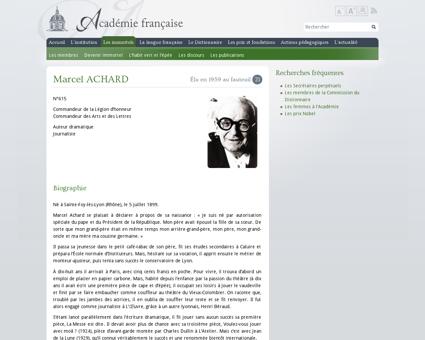 Marcel achard?fauteuil=21&election=28 05 Marcel