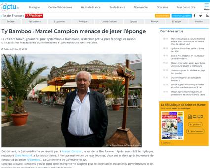 Marcel campion roi des forains parisiens Marcel