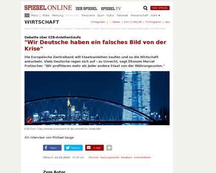 Ezb marcel fratzscher ueber staatsanleih Marcel