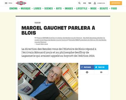Marcel gauchet parlera a blois 1077640 Marcel
