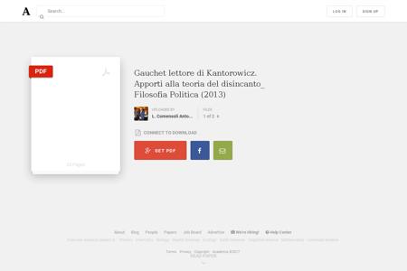 Gauchet lettore di Kantorowicz. Apporti  Marcel