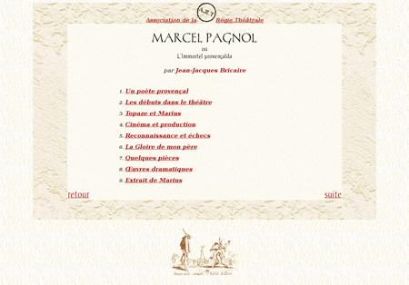 Marcel Pagnol table des matieres Marcel