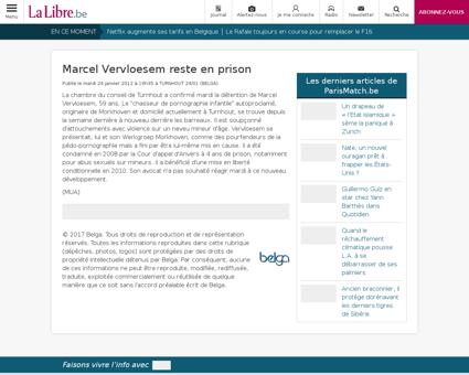 Marcel vervloesem reste en prison Marcel