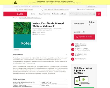 Notes d arrets de marcel waline volume 2 Marcel