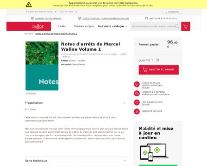 Notes d arrets de marcel waline volume 1 Marcel