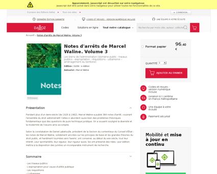 Notes d arrets de marcel waline volume 3 Marcel