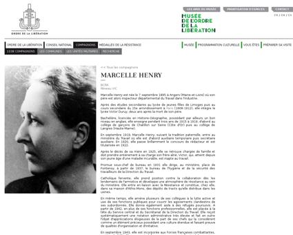 Marcelle HENRY