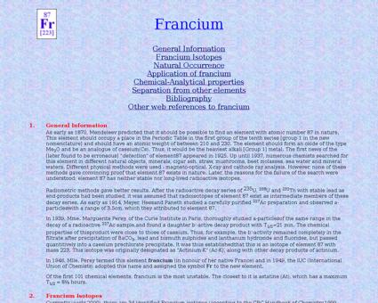 Francium Marguerite