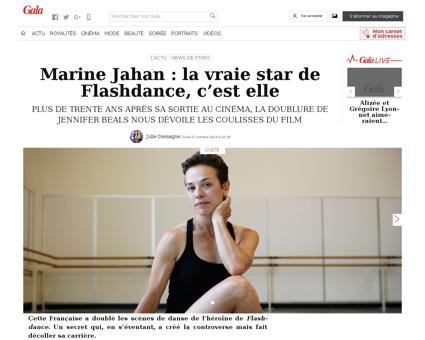 Marine jahan la vraie star de flashdance Marine