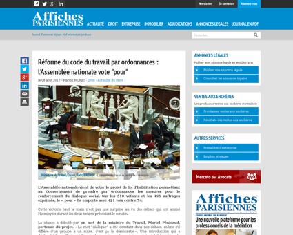 Reforme du code du travail par ordonnanc Mathilde