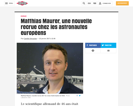 Matthias maurer une nouvelle recrue chez Matthias