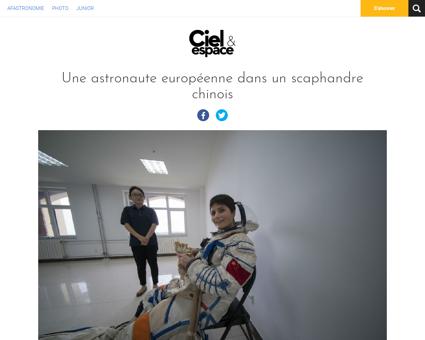 Une astronaute europeenne dans un scapha Matthias