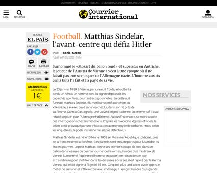 Matthias sindelar l avant centre qui def Matthias