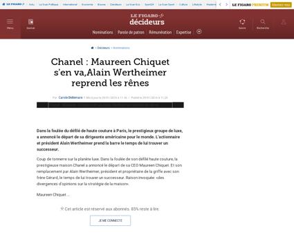 33002 20160129ARTFIG00105 chanel maureen Maureen