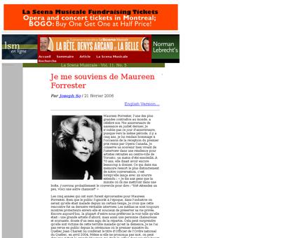 Maureen Forrester fr Maureen