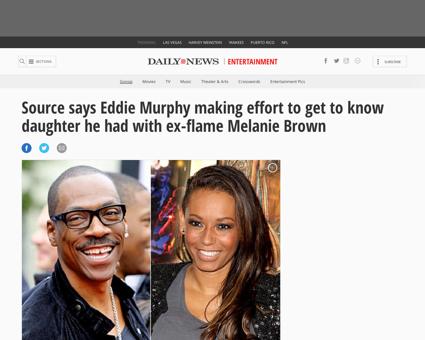 Source eddie murphy making effort daught Melanie