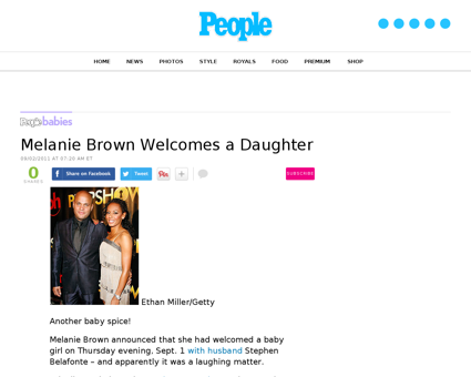 Melanie brown welcomes a daughter Melanie