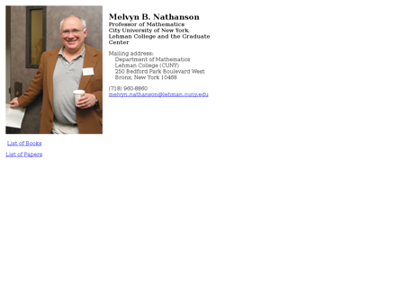 Nathanson Melvyn