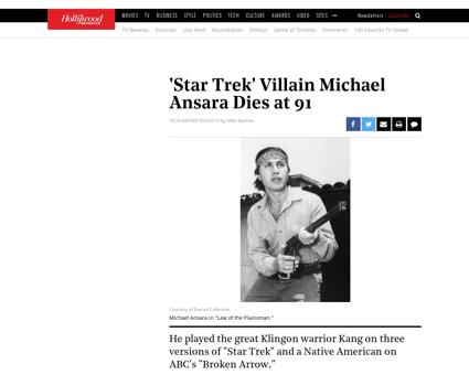 Michael ansara star trek kang dies 59878 Michael