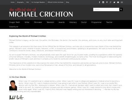 crichton official.com Michael