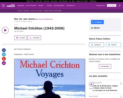 Emission une vie une oeuvre michael cric Michael