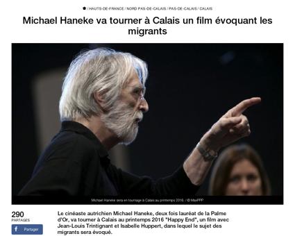 Michael haneke va tourner calais un film Michael
