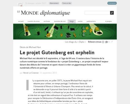 2011 09 11 Le projet Gutenberg est orphe Michael