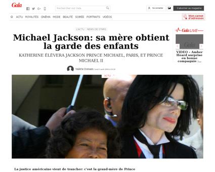 Mort de michael jackson son testament re Michael