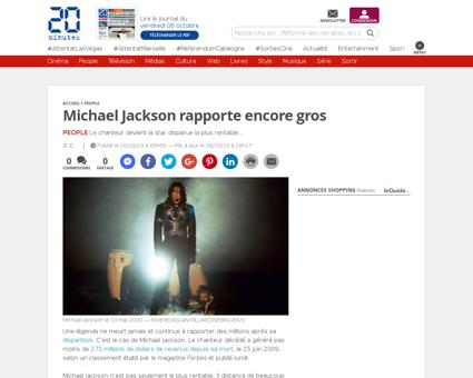 People michael jackson rapporte encore g Michael