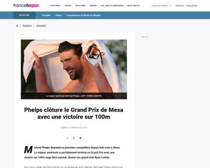 Phelps cloture le grand prix de mesa ave Michael