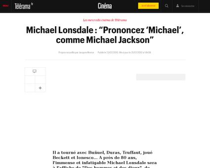 Michael lonsdale prononcez michael comme Michael