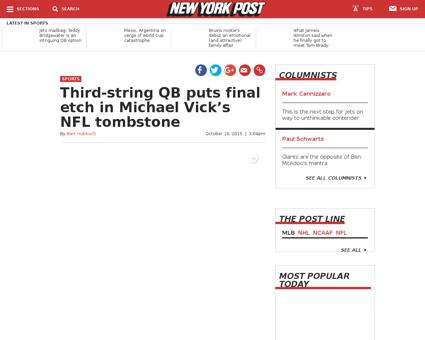 Third string qb puts final etch in micha Michael