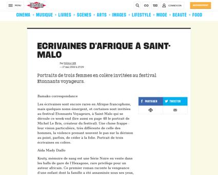 Ecrivaines d afrique a saint malo 403789 Monique