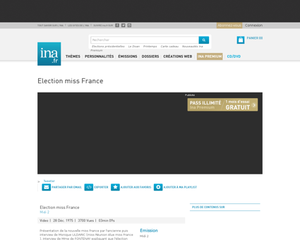 Election miss france.fr Monique