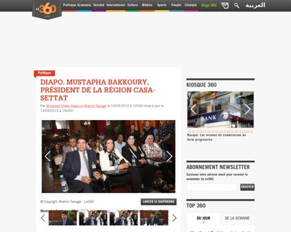 Diapo mustapha bakkoury president de la  Mustapha