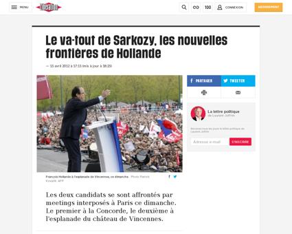 Sarkozy et hollande se defient a paris 8 Nadine