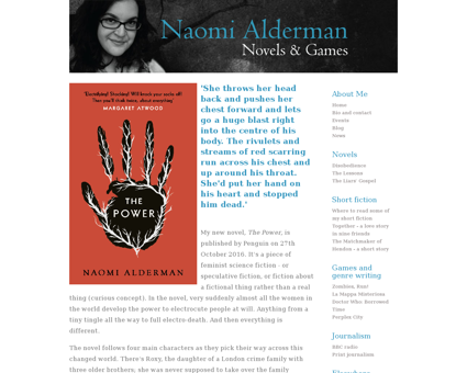 naomialderman.com Naomi