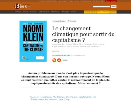 Le changement climatique pour Naomi