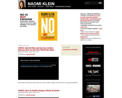 naomiklein.org Naomi