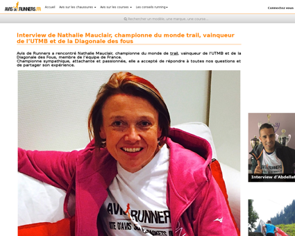 Interview de nathalie mauclair championn Nathalie