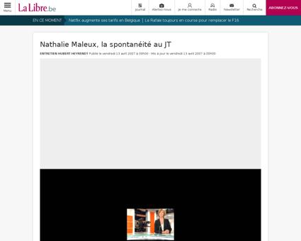Nathalie maleux la spontaneite au jt Nathalie