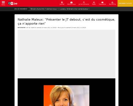 Nathalie maleux presenter le jt debout c Nathalie