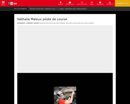 Nathalie maleux pilote de course Nathalie