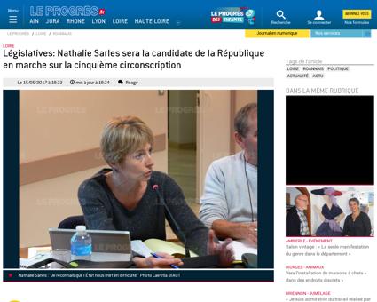 Legislatives nathalie sarles sera la can Nathalie