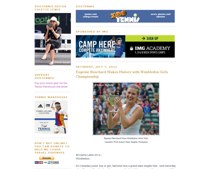 Eugenie bouchard makes history with Nathalie