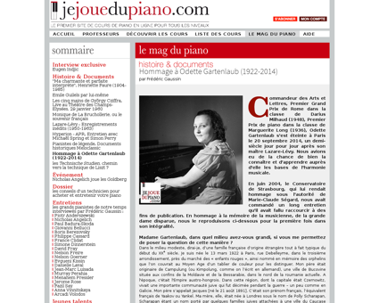 Histoire documents hommage a odette gart Odette