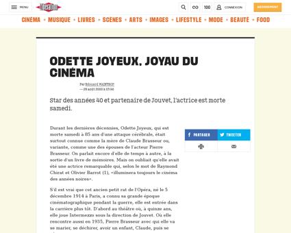 Odette joyeux joyau du cinema 335359 Odette