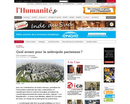 Quel avenir pour la metropole parisienne Patrice