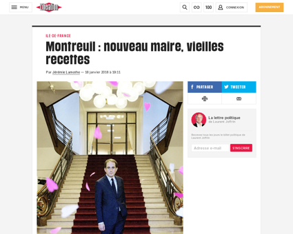 Montreuil nouveau maire vieilles recette Patrice